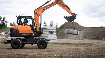 Rock and 'roll': Doosan unveils new wheeled excavator