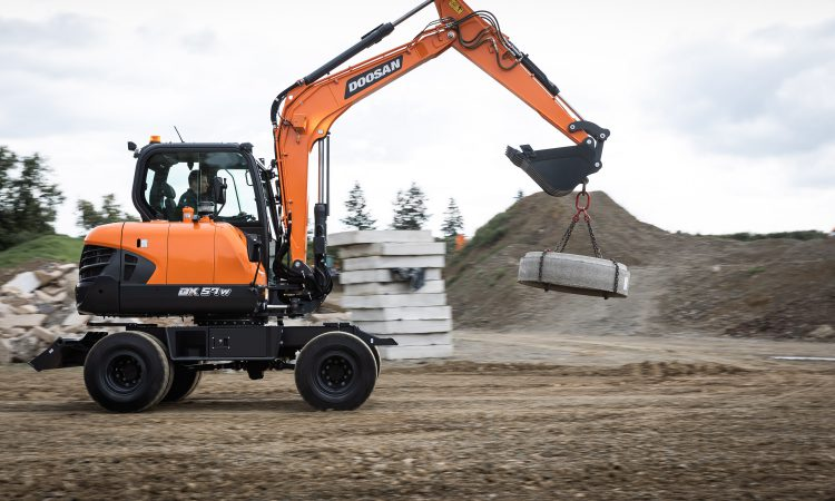 Rock and 'roll': Doosan unveils new wheeled excavator