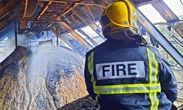 Pics: Cork fire crews deal with 'hotspots' 3 days on from R&H Hall fire