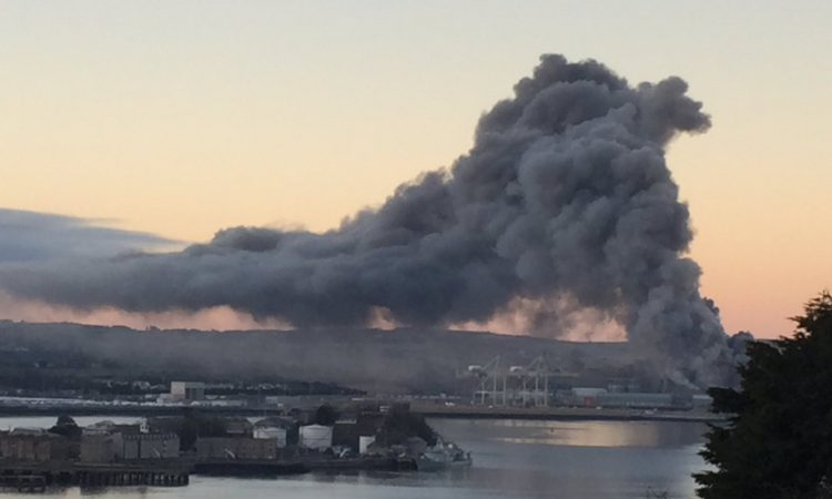 Emergency services called to fire at R&H Hall grain facility in Cork Port