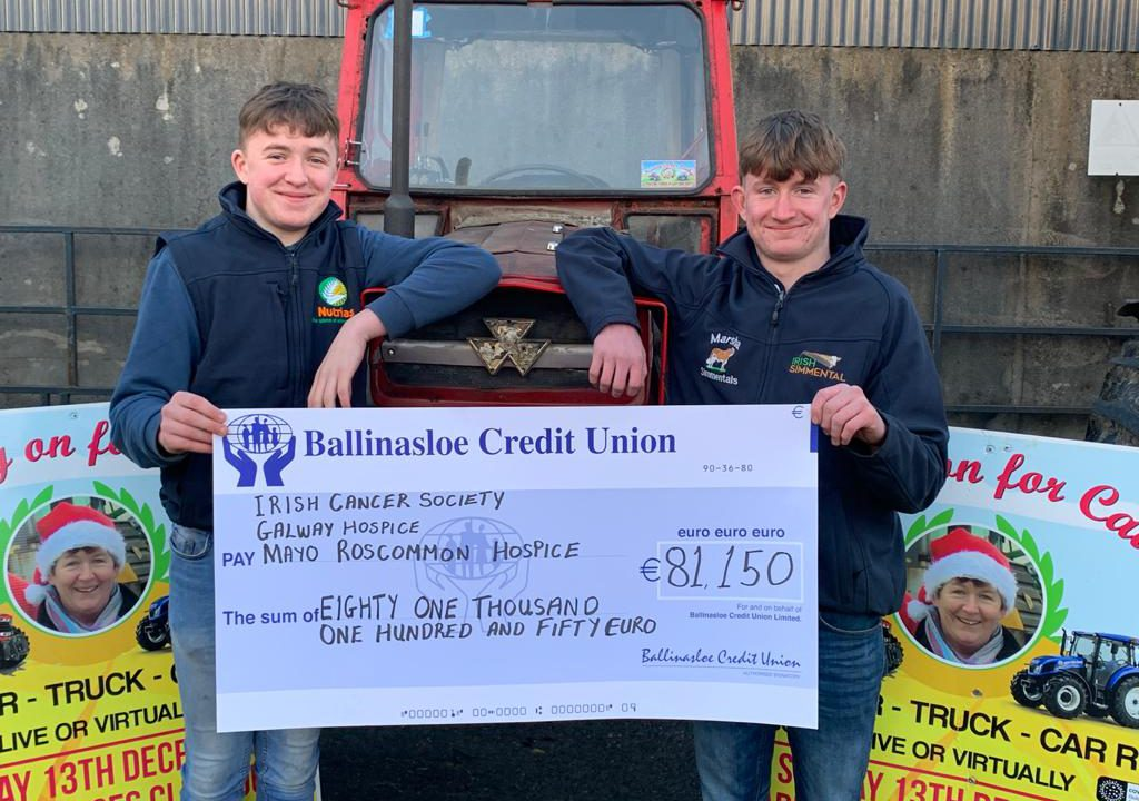 Brothers raise €81,150 for cancer services