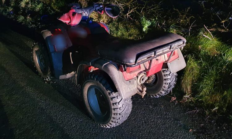 Quads seized and one driver arrested following incidents on public roads