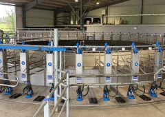 'The aim is to milk 300 cows an hour through the 50-bail rotary parlour'