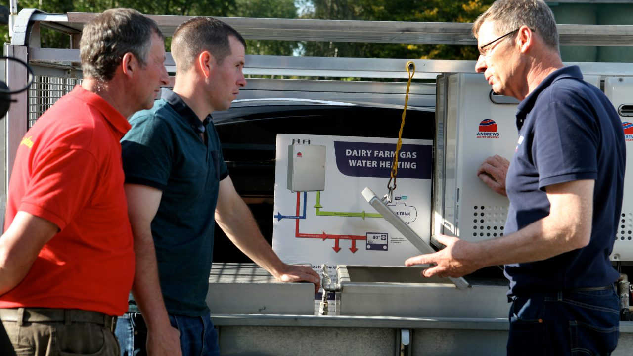 Co. Wexford farmer's seamless transition with on demand hot water and no noise pollution