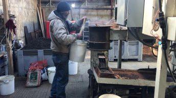 Turning wool into organic fertiliser in Co. Kildare