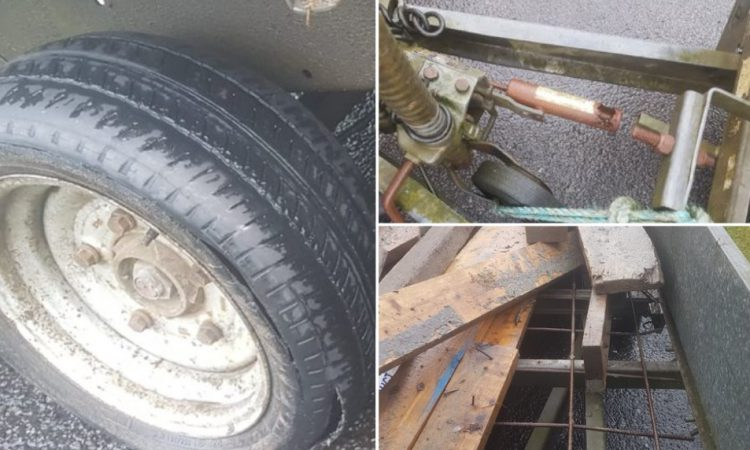 Trailer 'with major defects' seized with prosecution to follow