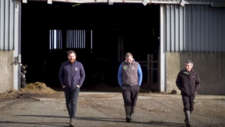 George Goes Dairy Farming –  Seamus Cullen and Clive Whelan in Wexford.