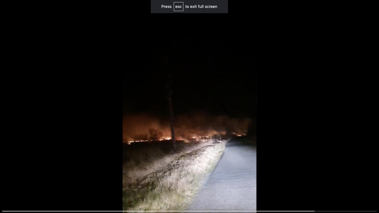 Emergency services attend bog fire near Strokestown