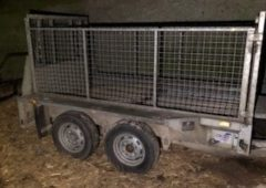Owner sought after trailer found abandoned in farmyard