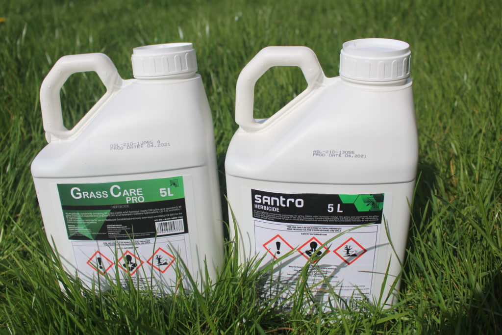weedkiller Grass Care Pro and Santro