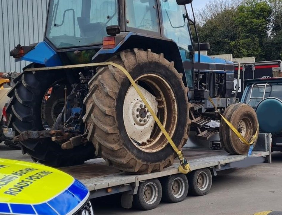 4×4 towing tractor seized 'with proceedings to follow'
