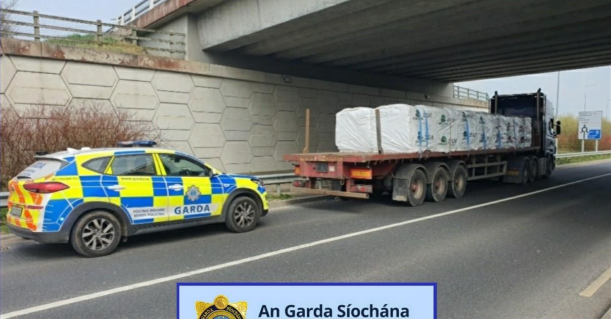 Lorry driver transporting fertiliser arrested after Garda enquiries