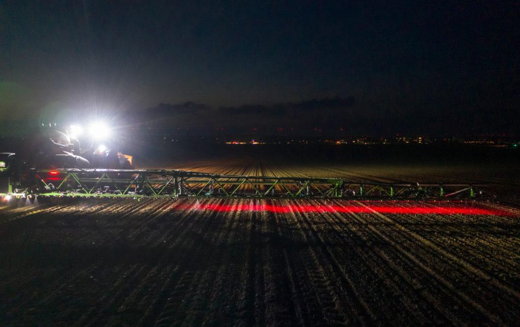 Amazone Smart Sprayer at night