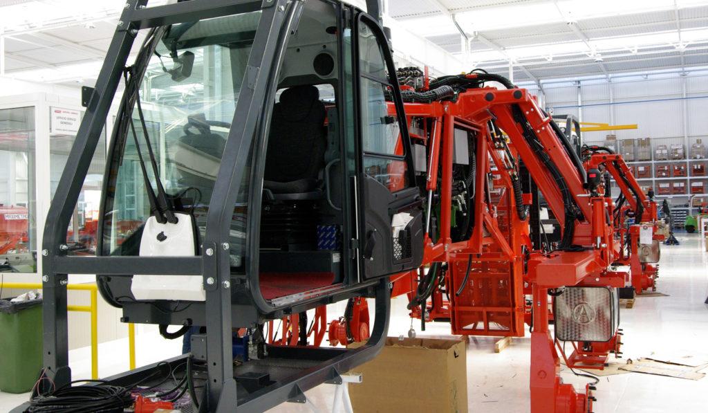 Machinery under construction