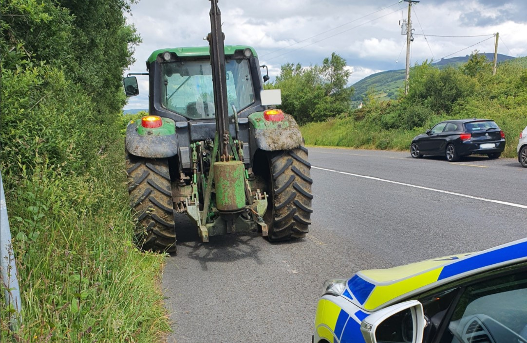 Getting the message: Tractor driver in hot water with Gardaí