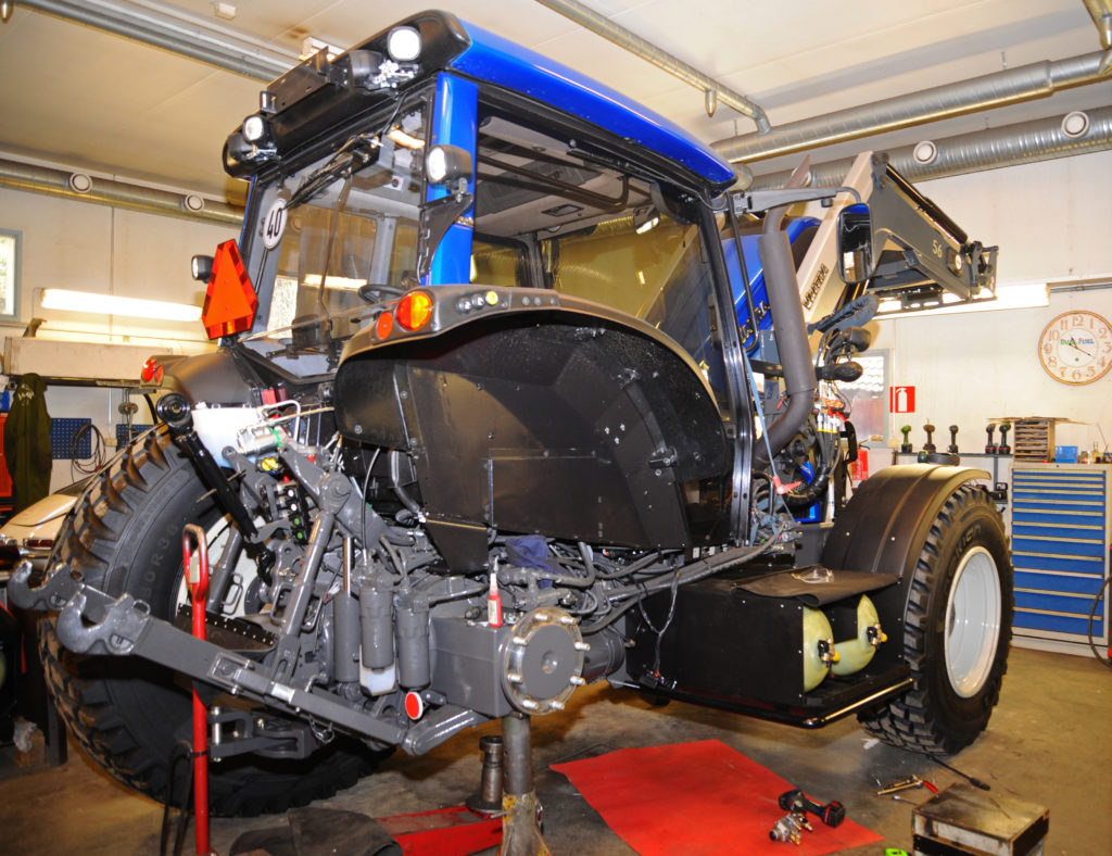 Valtra being converted from diesel to natural gas
