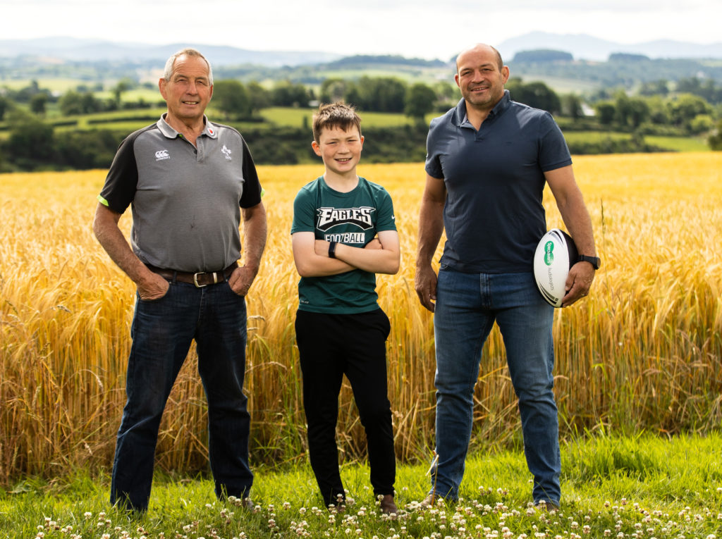 Farm safety - Rory Best with father and son