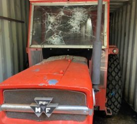 Vandals damage classic Massey Ferguson tractor at Meath athletics club