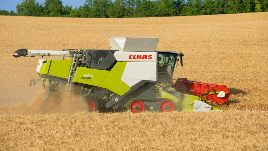 Claas trion models available with Tracks