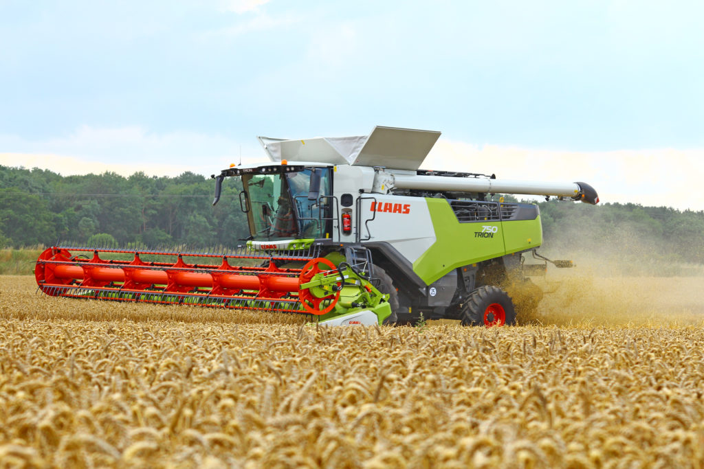 Claas trion have larger grain tanks