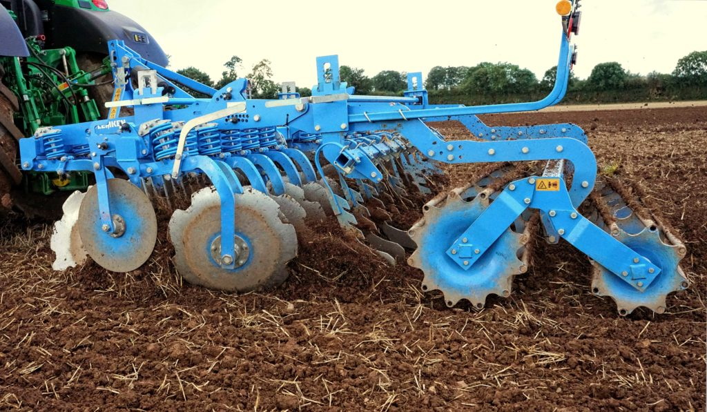 Lemken iscs are designed to hang from the frame rather than take the weight of the implement