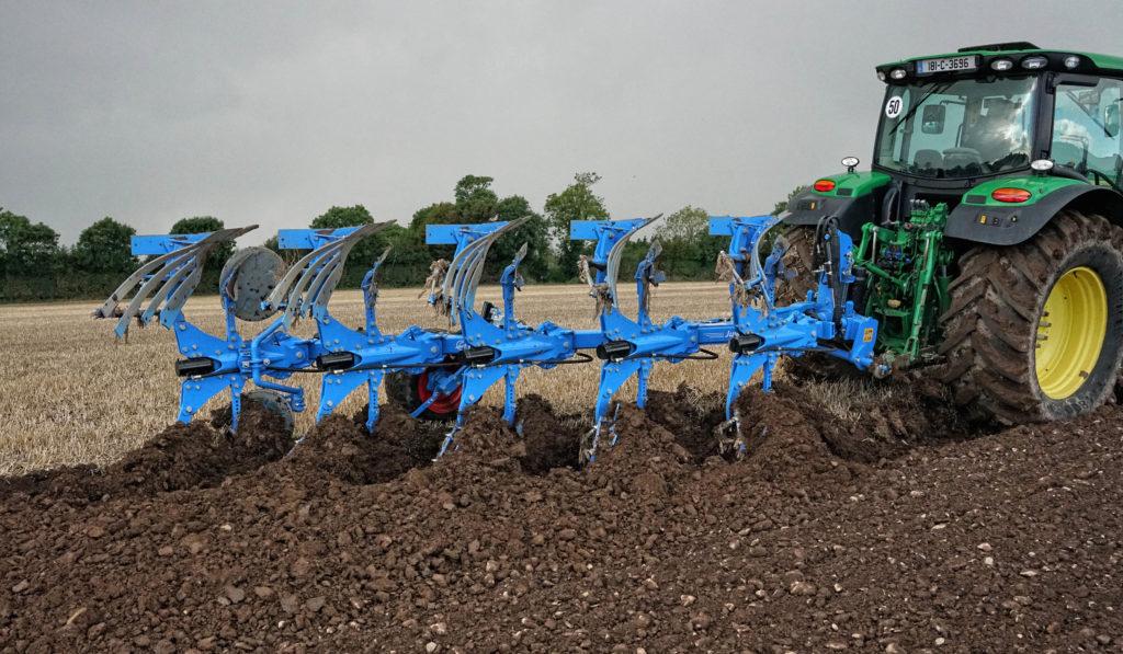 lemken five furrow titan plough
