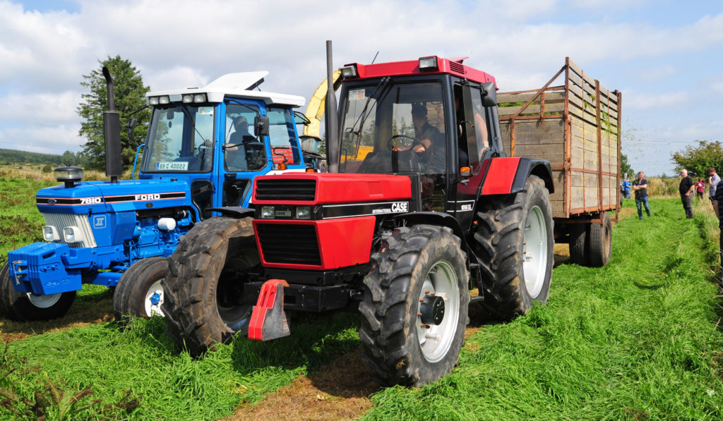 Case tractor at Araglin hoyland