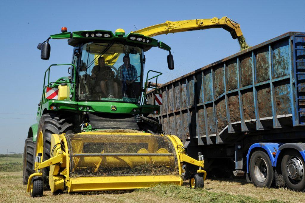 John Deere farm management tractor