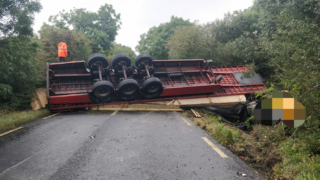 Rural road reopens following single vehicle collision