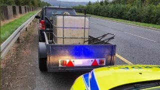 Trailer trouble for towing driver following Garda stop