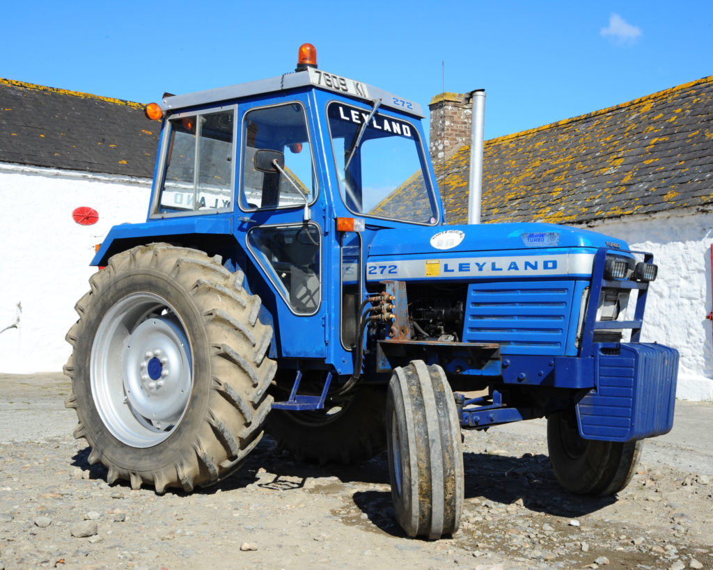 Blue livery of Leyland tractors
