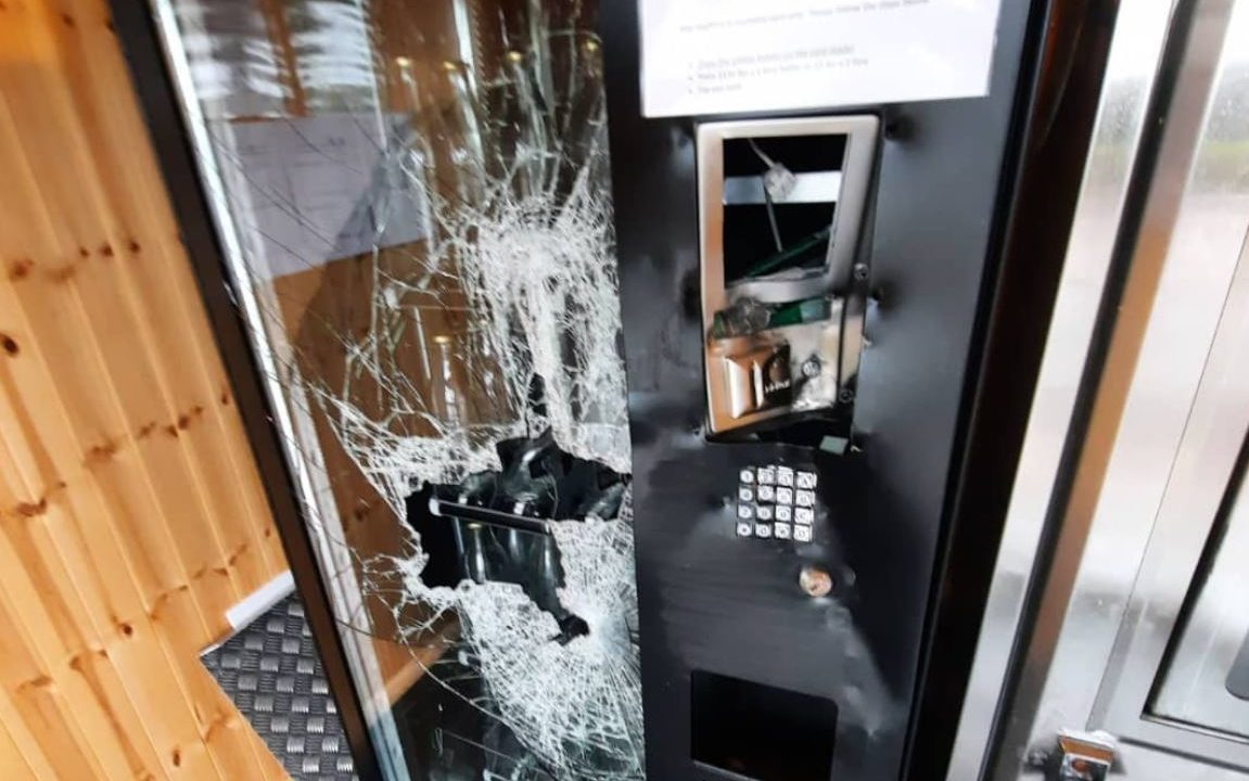 Milk vending machine business 'forced to close' after vandalism