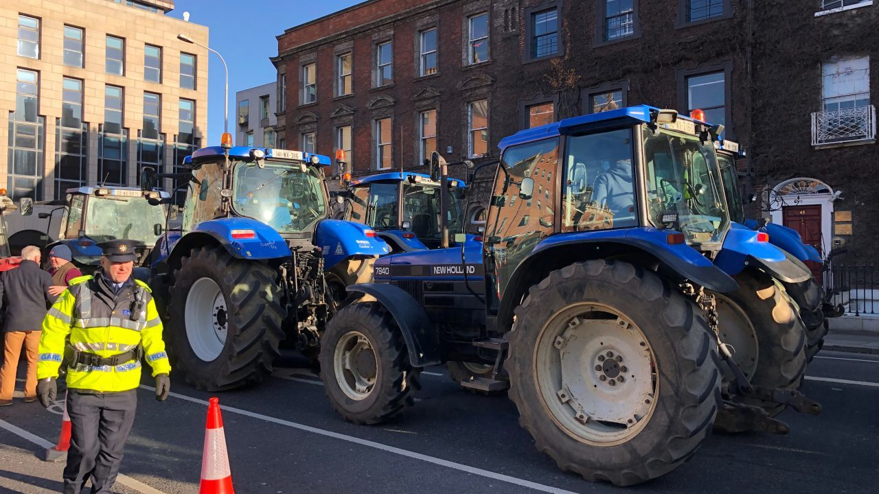 Warning of 'potentially major traffic jams' issued ahead of IFA's farmer protest