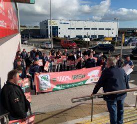 Laois demonstration urges consumers to buy Irish pigmeat